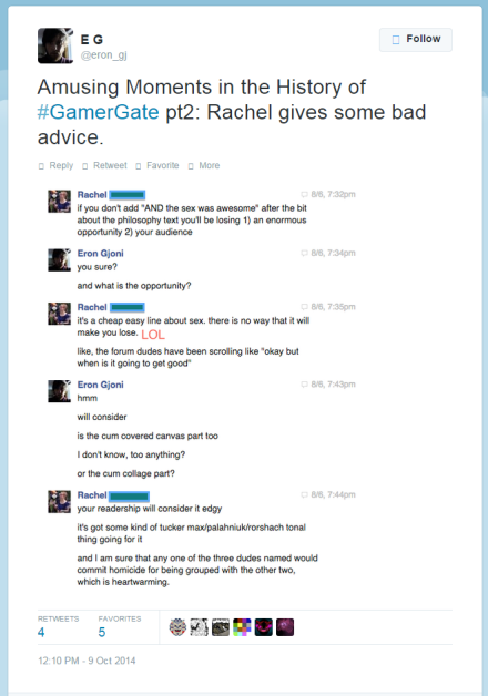 Here is is with his friend Rachel, dicussing how to make the post entertaining.