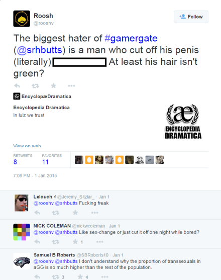 Typical #Gamergate Discussion Re: Sarah Butts